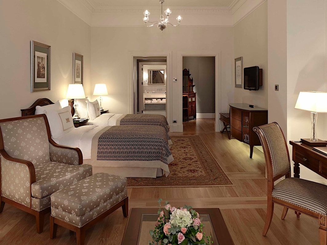 Luxury room at Pera Palace Hotel in Istanbul