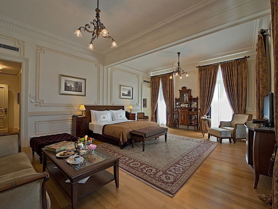 Luxury suite at Pera Palace Hotel in Istanbul
